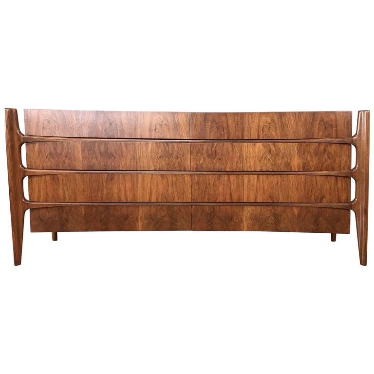 William Hinn for Urban Furniture Sculptural Walnut Eight-Drawer Dresser