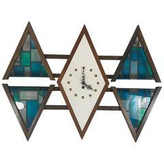 """Modernistische Wanduhr """"Diamond"""" von Penthouse Art Creations"""