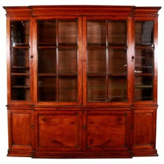 English Fruitwood Bookcase