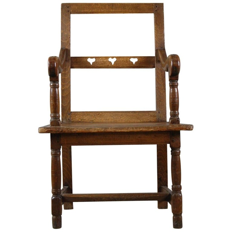 French Country Marriage or Love Chair For Sale