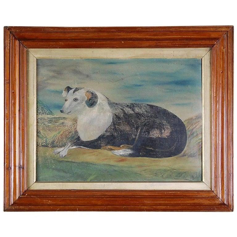 Naive Sheepdog Oil Painting