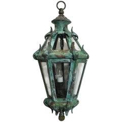 Handcrafted Solid Brass Venetian Courtyard Lantern