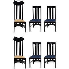 Six Charles Rennie Mackintosh Chairs by Cassina