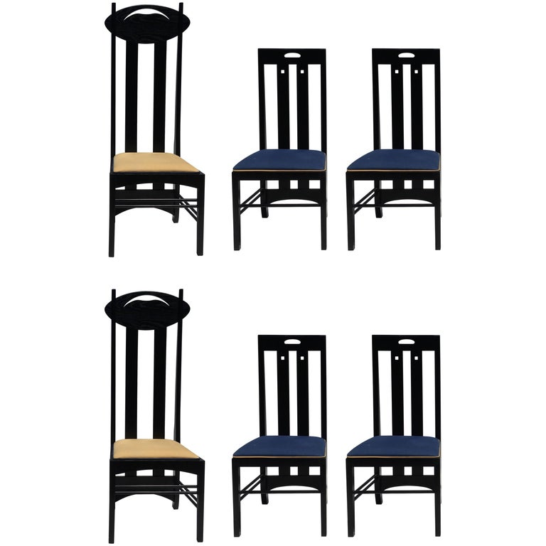 39 willow 39 settee by charles rennie mackintosh for cassina at 1stdibs. Black Bedroom Furniture Sets. Home Design Ideas