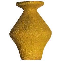 Modernist Italian Pottery Brilliant Volcanic Glaze Vase
