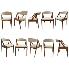 Kai Kristiansen Set of Ten Rosewood Dining Chairs Model 31
