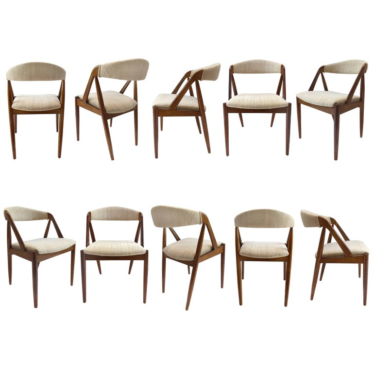 Kai Kristiansen Set of Ten Rosewood Dining Chairs Model 31