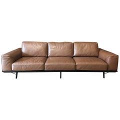 Natuzzi Italia High Grade Leather Gio Couch, circa 2017