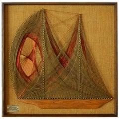 Spinnaker Boat Wire Art