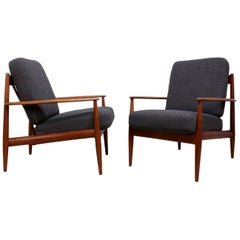 Pair of Teak Armchairs by Grete Jalk for France and Son