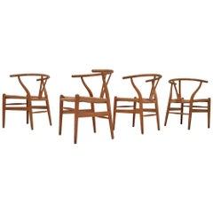Set of Four Iconic Vintage Danish Hans J. Wegner CH24 'Wishbone' Chairs