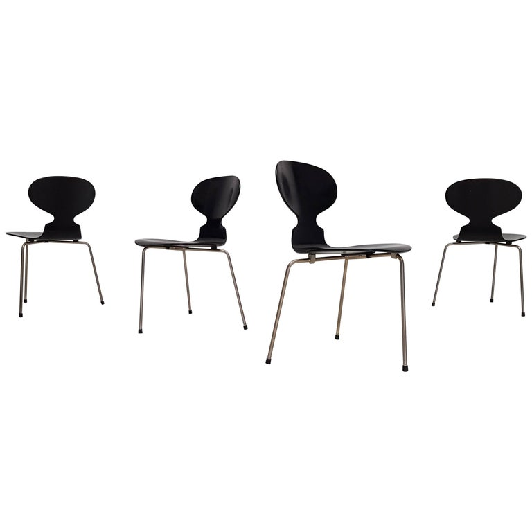 Early Model 3100 'Ant' Chairs by Arne Jacobsen for Fritz Hansen Designed in 1952