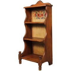 Rancho Monterey Bookcase with Vibrant Floral Painting
