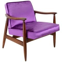 Vintage Velvet Ultra Violet Pantone Armchair, 1960s
