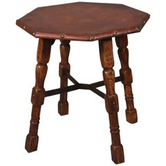California Rancho Style Table with Iron Stretcher