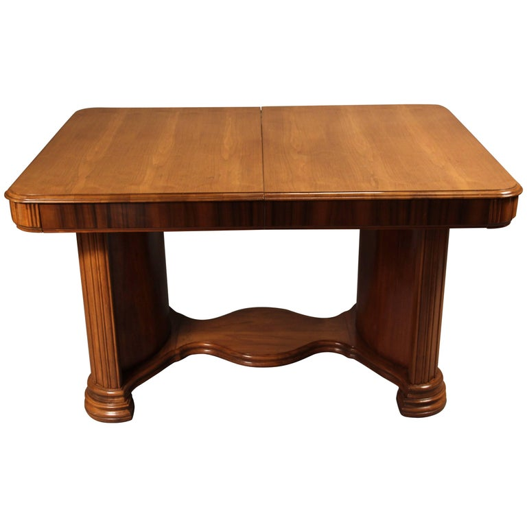 1930s Art Deco Table with One Leaf