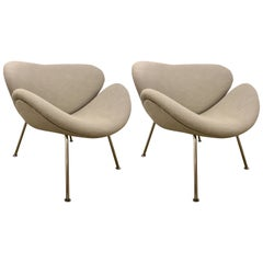Pair of Midcentury Pierre Paulin Style Chairs