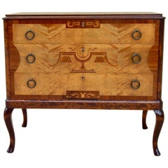 Swedish Art Deco Inlaid Chest of Drawers by Eric Chambert, Circa 1920