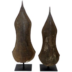 Currency Gongs Sculptures from Congo, Nkutshu Culture, 19th Century