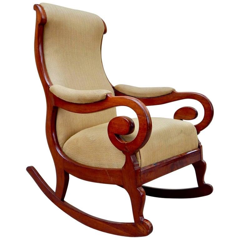 Swedish Biedermeier Rocking Chair, circa 1850 For Sale
