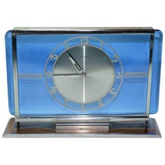 Art Deco Glass Clock by Kienzle