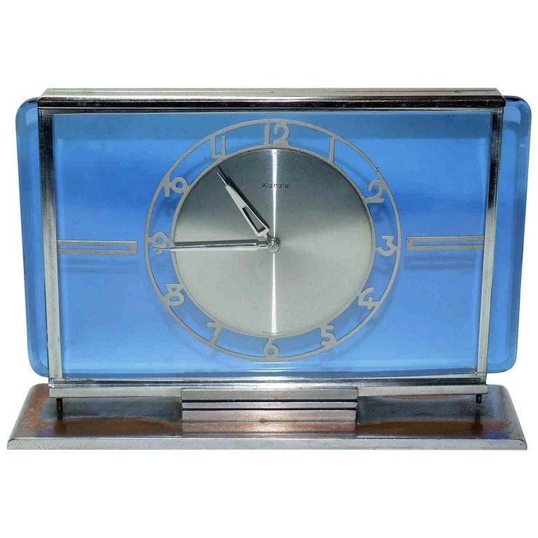 Art Deco Glass Clock by Kienzle