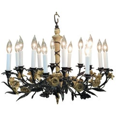 Neoclassical Style Foliate 14-Light Chandelier, France, circa 1905