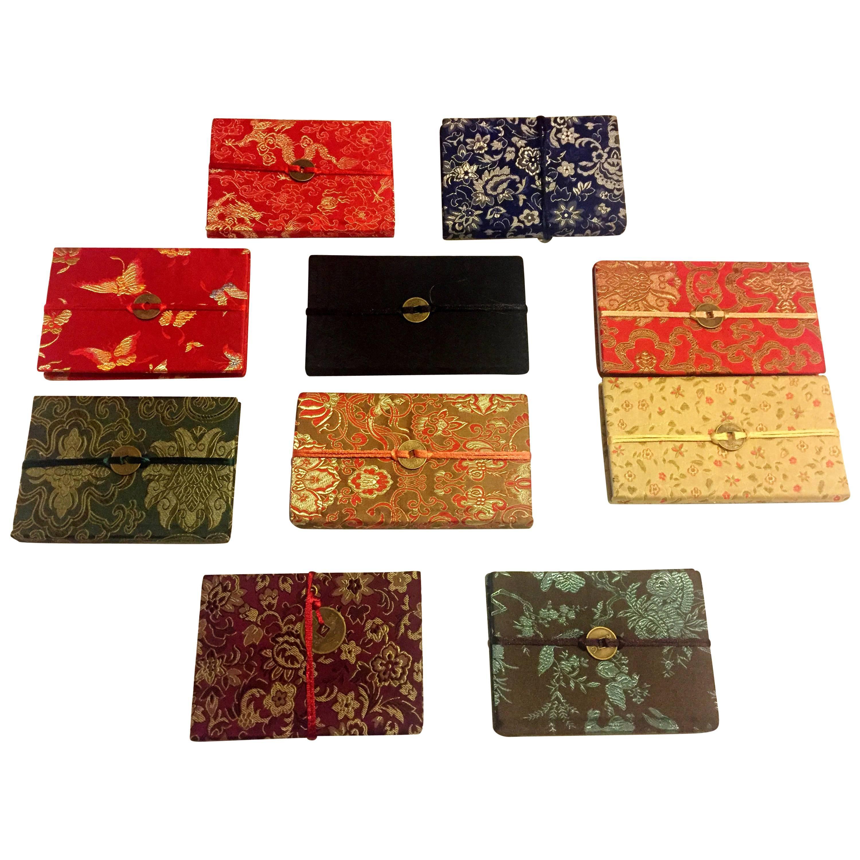 Ten Silk Brocade Notebook Journals