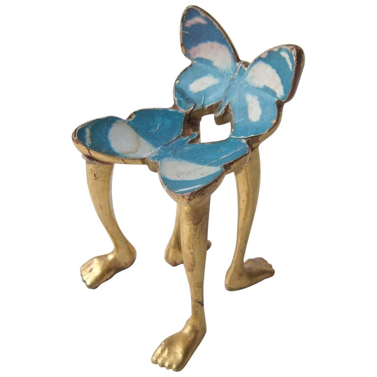 """Pedro Friedeberg """"Butterfly Chair"""" Miniature, Sculpture, Surrealist, Signed For Sale"""