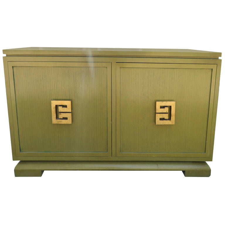 Handsome James Mont Style Asian Buffet Credenza Mid-Century Modern