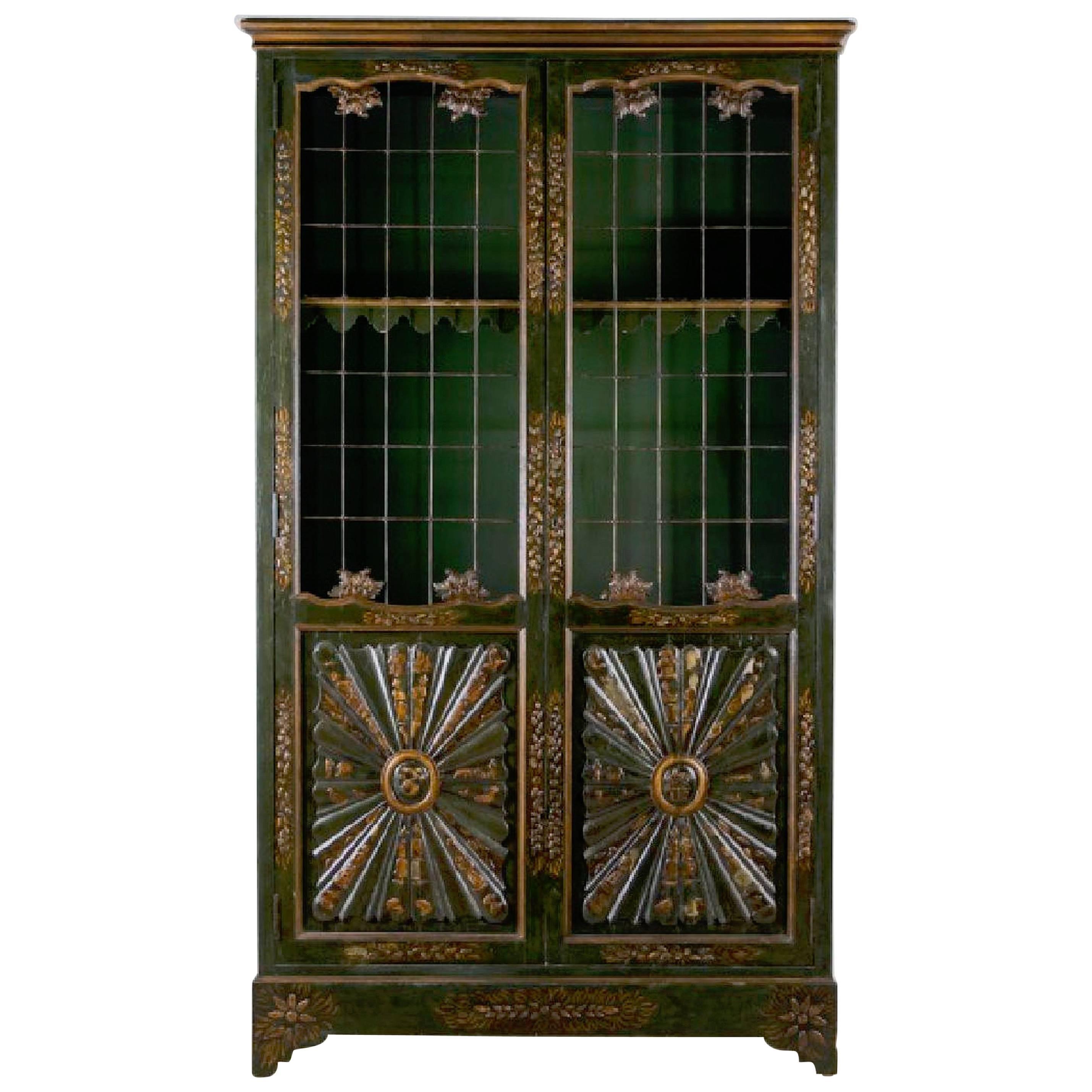 Parish-Hadley Chinoiserie Lacquered Bookcase