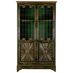 Parish-Hadley Chinoiserie Lacquered Bookcase