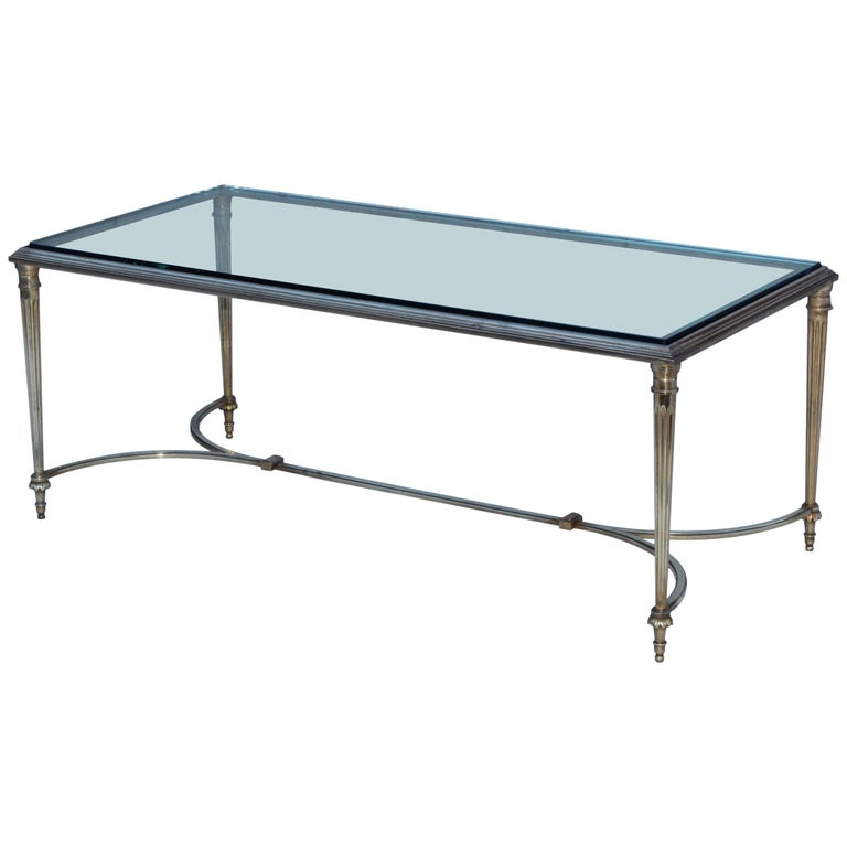 1960s Bronze French Coffee Table