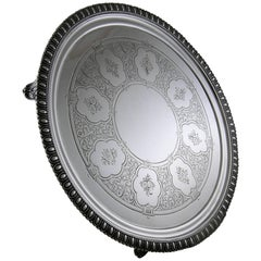 Sterling Tiffany & Co. 550 Broadway Footed Tray, circa 1855-1860