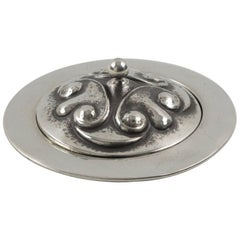 French Alice and Eugene Chanal Art Nouveau Dinanderie Polished Pewter Box