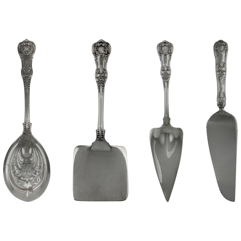 Tiffany English King 246 Piece Sterling Flatware Set, 1875-1891 For Sale