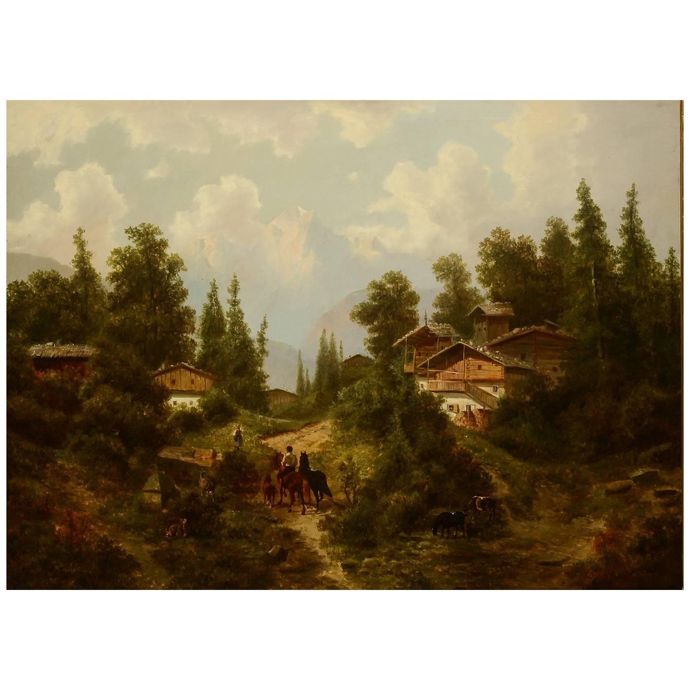 Albert Lang Oil Painting