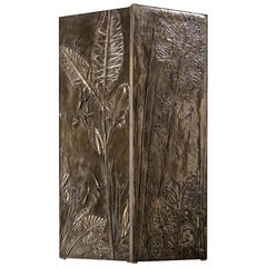 'Tropical Fossil I' Monumental Bronze and Brass Screen by Gianluca Pacchioni
