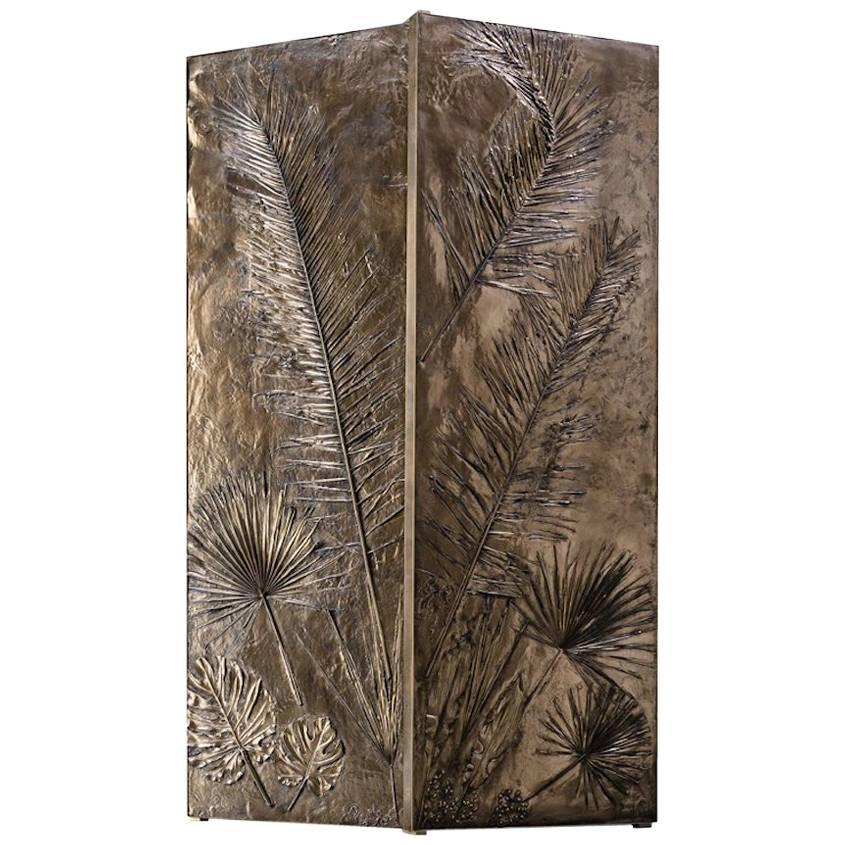 'Tropical Fossil II' Monumental Bronze and Brass Screen by Gianluca Pacchioni