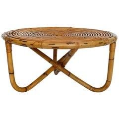 Bamboo Coffee Table by Bonacina, 1980s