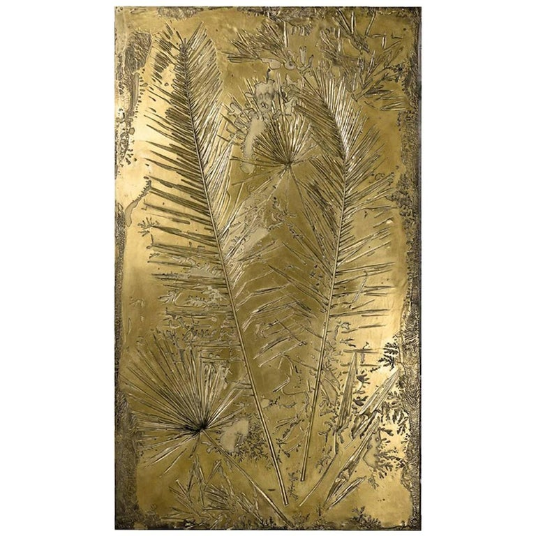 'Fossil I' Monumental Bronze and Brass Screen by Gianluca Pacchioni For Sale
