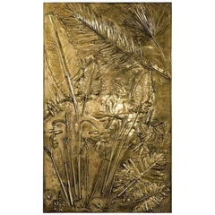 'Fossil II' Monumental Bronze and Brass Panel by Gianluca Pacchioni