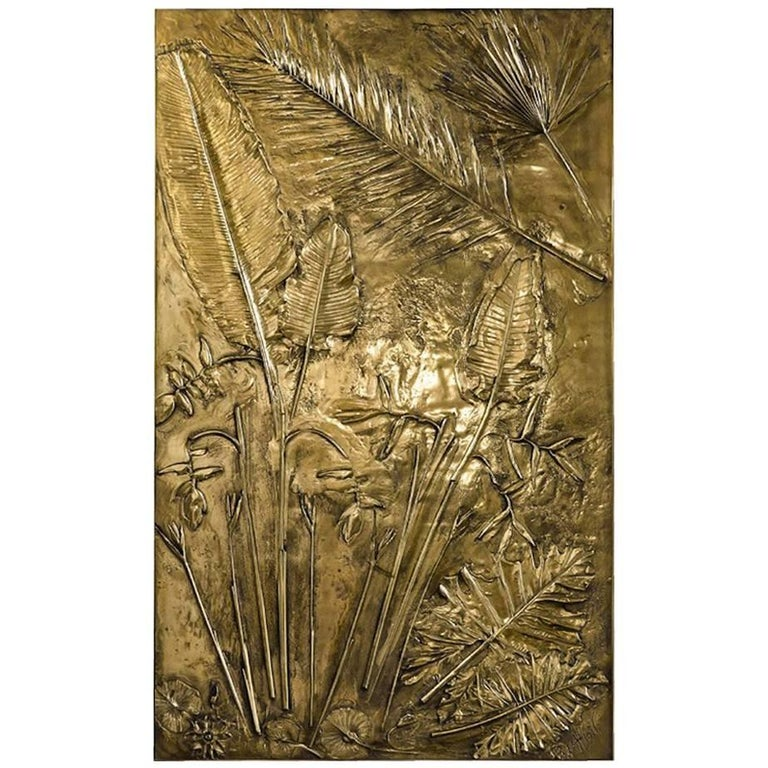 'Fossil II' Monumental Bronze and Brass Screen by Gianluca Pacchioni For Sale