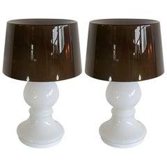 Unique Midcentury Glass Murano Floor or Table Lamp