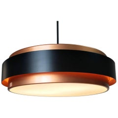 Jo Hammerborg Copper Ceiling Light Dano Circular by Fog and Morup 1963