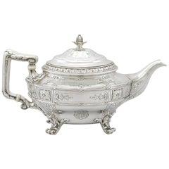 1940s American Silver Teapot