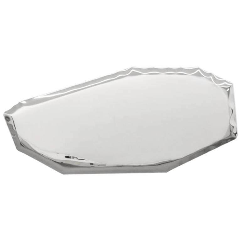 Contemporary 'Tafla 3' Mirror in Stainless Steel by Zieta Prozessdesign