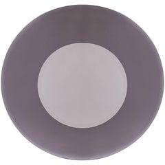 Circular Beveled Sfumato-Grey Mirror in the Manner of Fontana Arte, Italy, 1970s