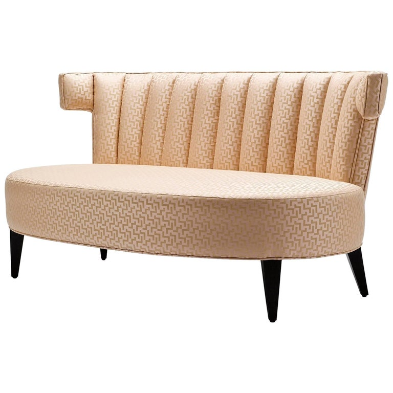 Phenomenal Contemporary Isabella Sofa In Zig Zag Jacquard Fabric With Ebonized Walnut Legs Theyellowbook Wood Chair Design Ideas Theyellowbookinfo