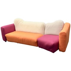 Cannaregio Sofa design Gaetano Pesce for Cassina two pieces sofa 1980s circa